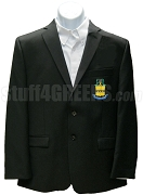 Acacia Blazer Jacket with Crest, Black