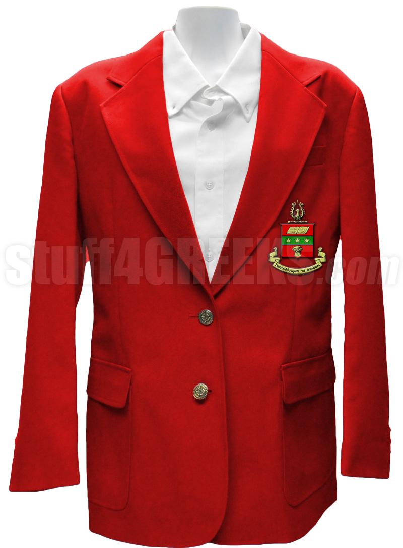 Alpha Chi Omega Blazer Jacket with Crest, Red