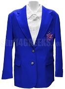 Alpha Delta Chi Blazer Jacket with Crest, Royal Blue
