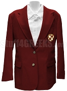 Alpha Eta Omega Blazer Jacket with Crest, Burgundy