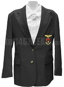 Alpha Eta Rho Ladies' Blazer Jacket with Crest, Black