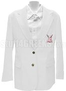 Alpha Eta Theta Ladies  Blazer Jacket with Crest, White