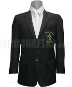 Alpha Gamma Rho Blazer Jacket with Crest, Black
