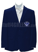 Alpha Gamma Sigma Blazer Jacket with Crest, Navy Blue