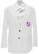 alpha Kappa Delta Phi Blazer Jacket with Crest, White