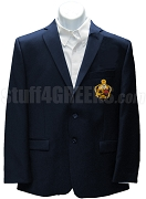Alpha Kappa Psi Blazer Jacket with Crest, Navy Blue
