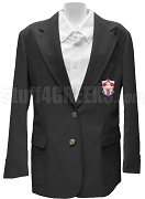 Alpha Lambda Omega Blazer Jacket with Crest, Black