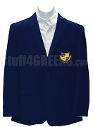 Alpha Nu Omega Men's Blazer Jacket with Crest, Navy Blue