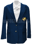 Alpha Nu Omega Ladies' Blazer Jacket with Crest, Navy Blue