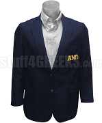 Alpha Nu Omega Greek Letter Men's Blazer Jacket, Navy Blue