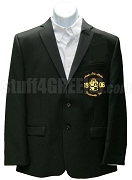 Alpha Phi Alpha Blazer with Embellished Crest, Black