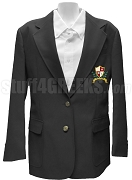 Alpha Phi Gamma Blazer Jacket with Crest, Black