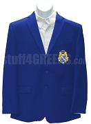 Alpha Phi Omega Blazer Jacket with Crest, Royal Blue