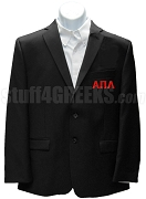 Alpha Pi Lambda Blazer Jacket with Greek Letters, Black