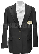 Alpha Psi Omega Ladies' Blazer Jacket with Crest, Black