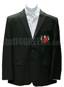 Alpha Rho Delta Blazer Jacket with Crest, Black