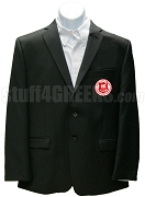 Alpha Sigma Phi Blazer Jacket with Crest, Black