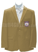 Alpha Sigma Upsilon Men's Blazer Jacket with Crest, Camel