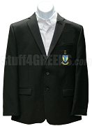 Alpha Tau Omega Blazer Jacket with Crest, Black