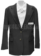 Alpha Theta Epsilon Blazer Jacket with Greek Letters, Black