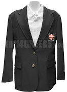 Alpha Theta Omega Blazer Jacket with Crest, Black