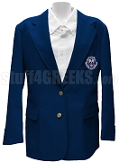 Alpha Zeta Omega Ladies' Blazer Jacket with Crest, Navy Blue