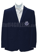 Alpha Zeta Omega Men's Blazer  Jacket with Crest, Navy Blue