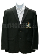 Beta Omega Phi Blazer Jacket with Crest, Black