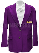 Beta Phi Sigma Blazer Jacket with Greek Letters, Purple