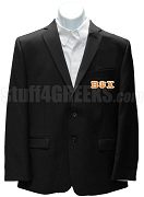 Beta Psi Chi Blazer Jacket with Greek Letters, Black
