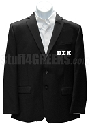 Beta Sigma Kappa Blazer Jacket with Greek Letters, Black