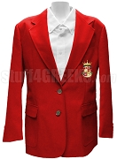 Beta Sigma Zeta Blazer Jacket with Crest, Red