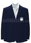 Beta Xi Chi Blazer Jacket with Crest, Navy Blue
