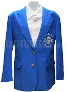 Zeta Phi Beta Embellished Crest Blazer Jacket, Royal Blue