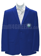 Chi Alpha Epsilon Men's Blazer Jacket with Crest, Royal Blue
