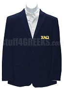 Chi alpha Omega Blazer Jacket with Greek Letters, Navy Blue