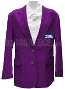 Chi Nu Alpha Blazer Jacket with Greek Letters, Purple