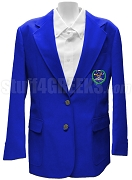 Chi Omega Psi Blazer Jacket with Crest, Royal Blue