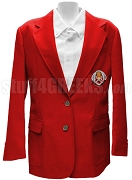 Chi Phi Sigma Blazer Jacket with Greek Letters, Red