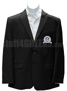 Chi Rho Omicron Blazer Jacket with Crest, Black