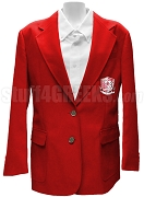 Chi Sigma Alpha Blazer Jacket with Crest, Red