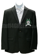 Chi Sigma Tau Blazer Jacket with Crest, Black