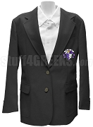 Chi Sigma Xi Blazer Jacket with Crest, Black
