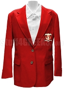Chi Upsilon Sigma Blazer Jacket with Crest, Red