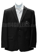 Chi Upsilon Zeta Blazer Jacket with Crest, Black
