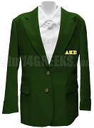 Delta Kappa Sigma Blazer Jacket with Greek Letters, Forest Green