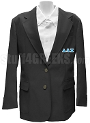 Delta Lambda Chi Blazer Jacket with Greek Letters, Black