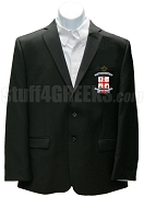 Delta Phi Delta Men's Blazer Jacket with Crest, Black