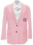 Delta Phi Kappa Blazer Jacket with Greek Letters, Pink