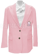 Delta Phi Sigma Blazer Jacket with Greek Letters, Pink